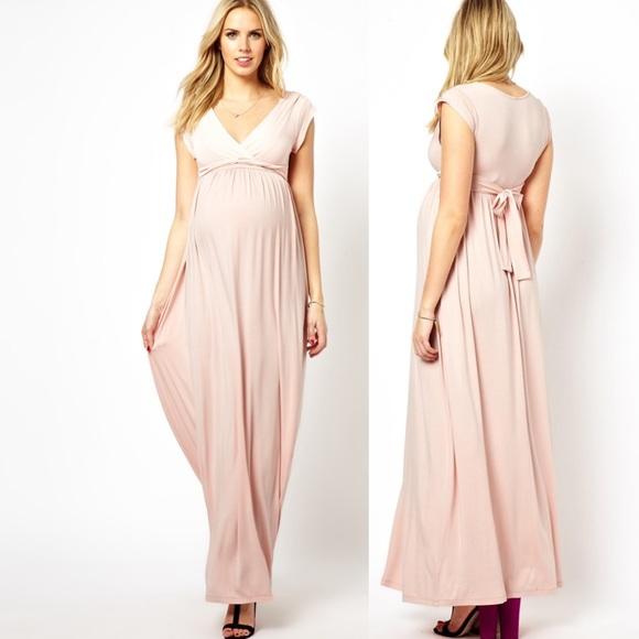 c3e01da21d4d8 ASOS Maternity Dresses & Skirts - ASOS Maternity Maxi Dress Blush Pink Sz 10